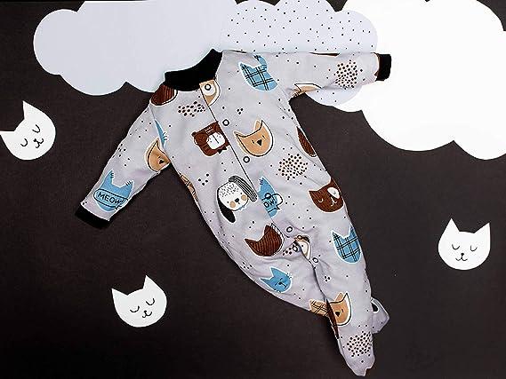 Pack de 3 Mix de Colores 9-24 con Pies Antideslizantes Sibinulo Ni/ño Ni/ña Peleles Mamelucos Pijama Manga Larga Tama/ños 0 a 24 Meses