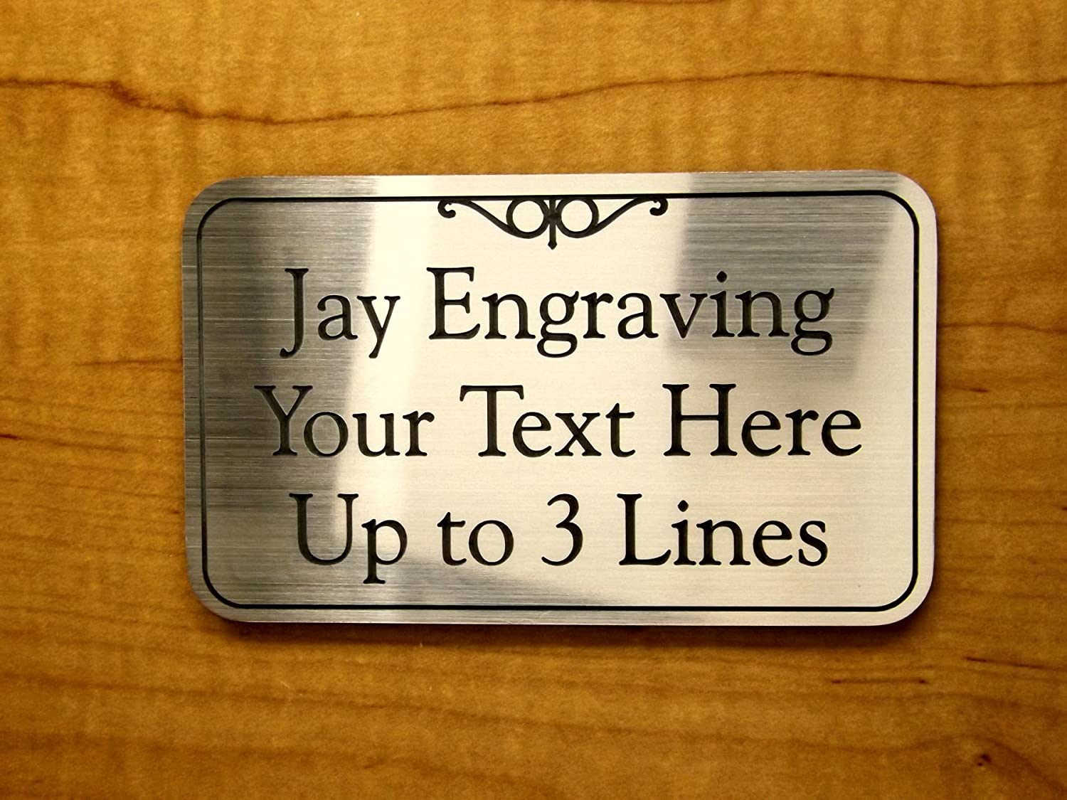 Personalised Desk Name Sign Custom Engraved Plaque Copper Color Office Plate