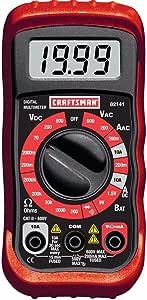 8 Functions with Craftsman Digital Multimeter Volt AC DC Tester Meter Voltmeter Ohmeter 34-82141