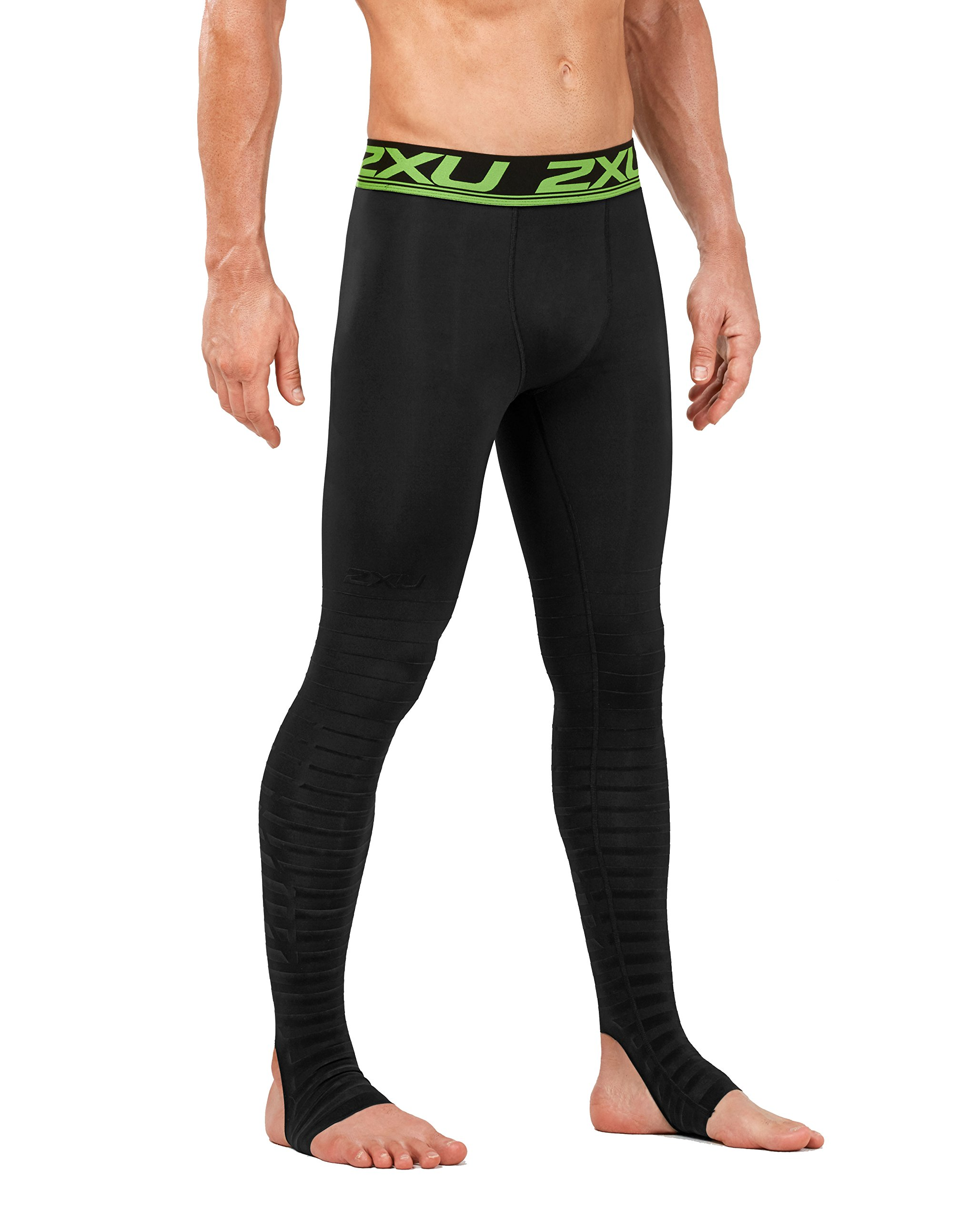 2XU Men's Elite Power Recovery Compression Tights, Black/Nero, X-Small