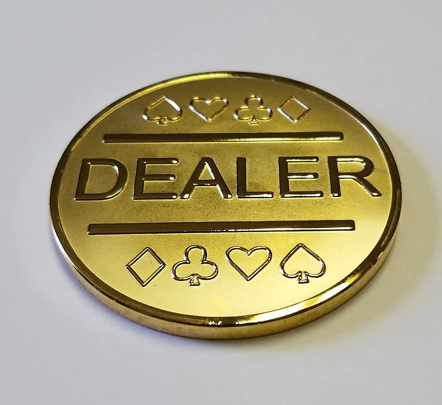 Amazon.com : Gold Plated Metal Dealer Button for Poker Games Such ...