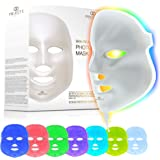 Project E Beauty LED Face Mask Light Therapy | 7 Color Skin Rejuvenation Therapy LED Photon Mask Light Facial Skin Care Anti