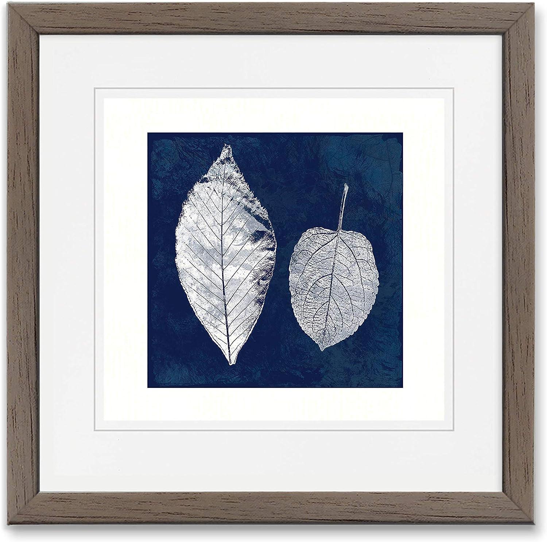 WEXFORD HOME Wall Art, 15X15, Cyanotype Feather II/Blury Wood