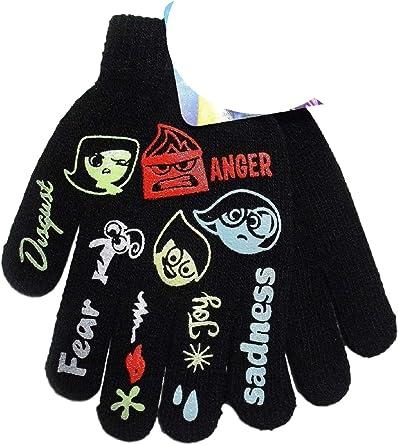 Inside Out Black Girls Knit Winter Gloves