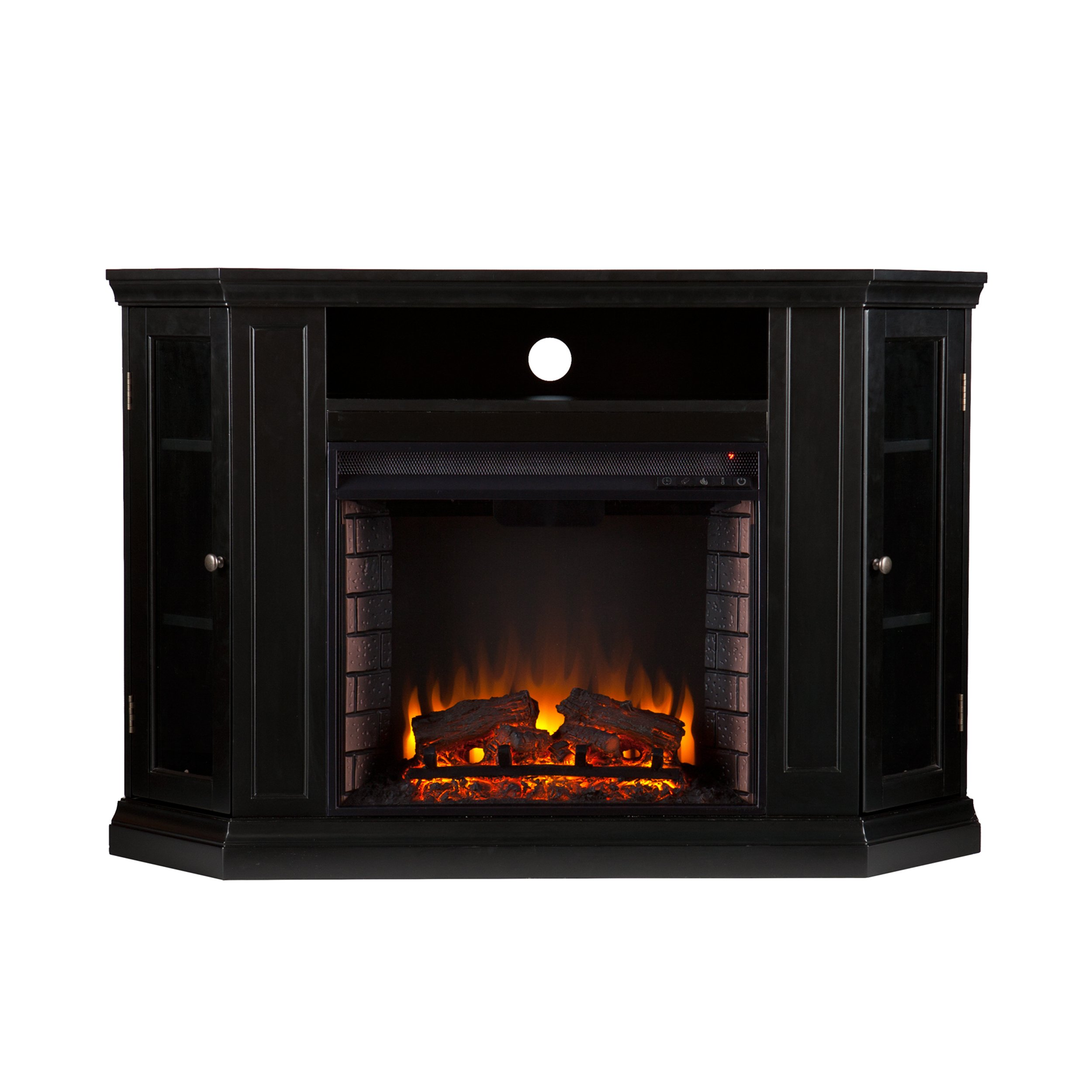 Southern Enterprises Claremont Convertible Media Electric Fireplace 48'' Wide, Black Finish