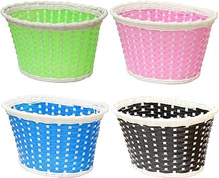 Auswahl aus 4 Farben PedalPro Kleiner Kunststoffkorb Kinder-Fahrradkorb
