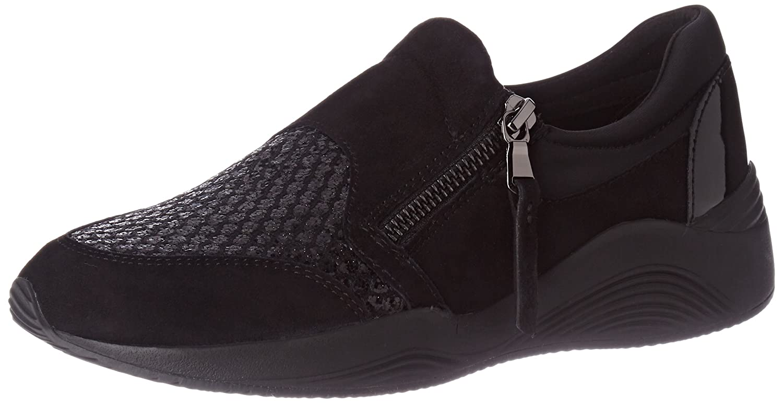 Geox D Omaya a, Zapatillas para Mujer 38 EU|Negro (Black)