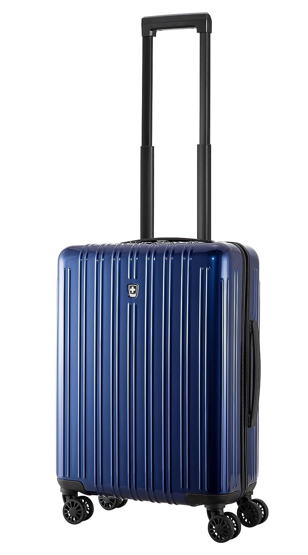 Swissmobility Precision TSA bagage cabine à main valise Rigide Léger 8 Roulettes polycarbonate Noir