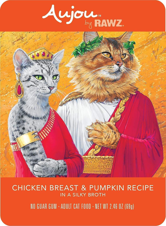 Rawz Aujou Chicken Breast & Pumpkin Cat Food 8/2.46 oz Pouches