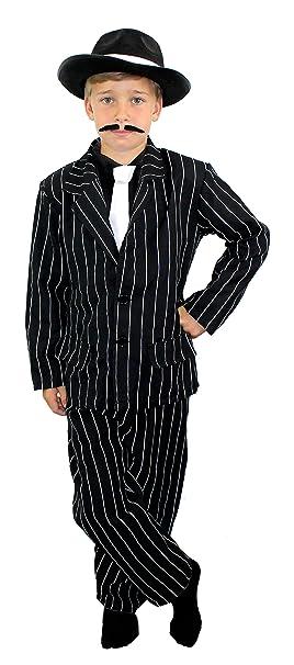 I Love Fancy Dress ILFD7038M - Disfraz infantil de gánster, tamaño ...