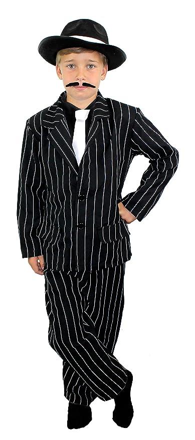 Disfraz de gánster de años 20 para NIÑO - Negro traje de ...