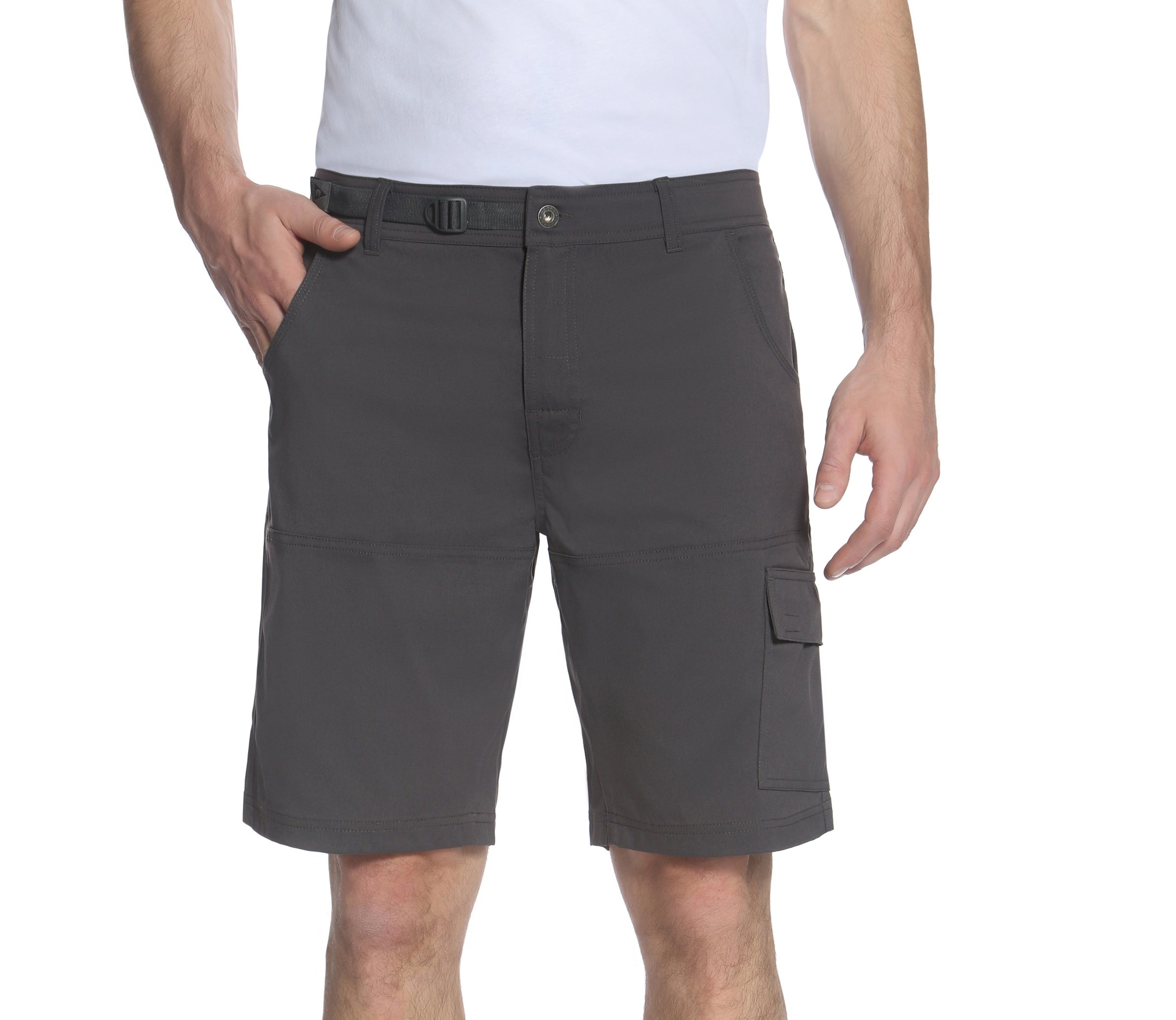 Gerry Men's Venture Flat Front Stretch Cargo Short (Slate, 36) by Gerry