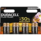Duracell Plus Power Type AA Alkaline Batteries, Pack of 8