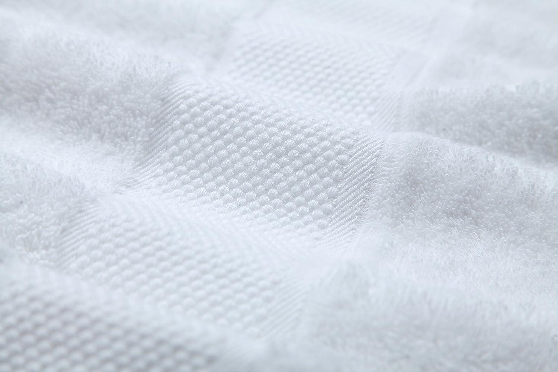Blanc 6 essuie-Mains et 6 d/ébarbouillettes Essuie-Tout 12 Serviettes en Coton tr/ès absorbantes pour Les Clients de lh/ôtel Sumc Ensemble de Serviettes de Bain