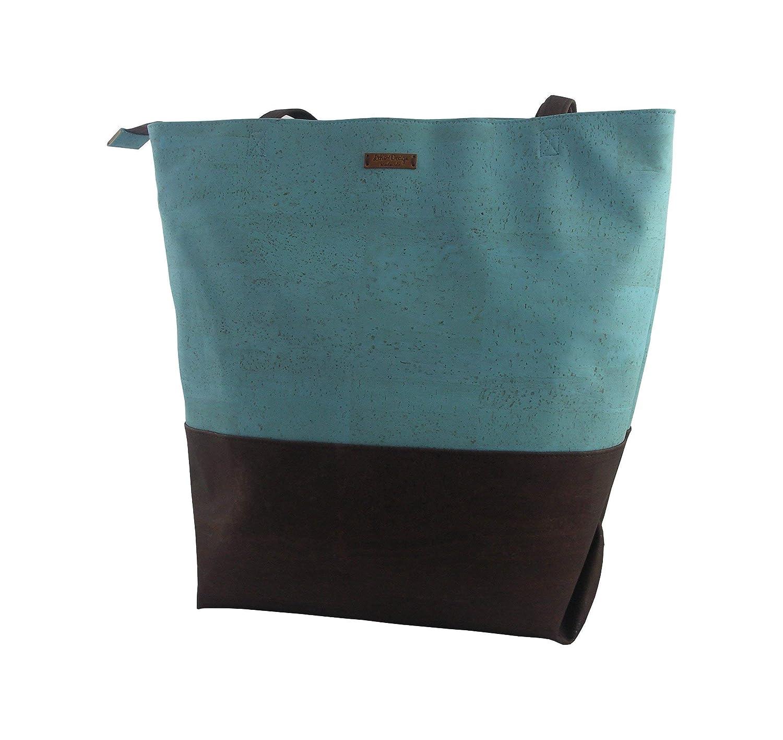 LeKo-Design handmade Shopper Schultertasche Kork Baumwolle natur braun