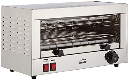 Lacor - 69172 - Tostador eléctrico Horizontal Parrilla Simple 2400w-Gris