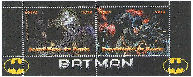Benin MNH 2014 Batman Marvel graphic novel stamp sheet for collectors with 2 stamps