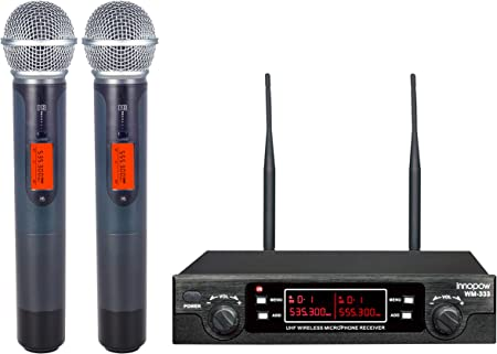 front facing innopow wm-333 wireless microphone system