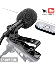 Best Professional Lavalier Lapel Microphone with Easy Clip On System   Perfect for Recording Youtube Vlog Interview / Podcast   Best Mic for iPhone iPad iPod Android Mac PC