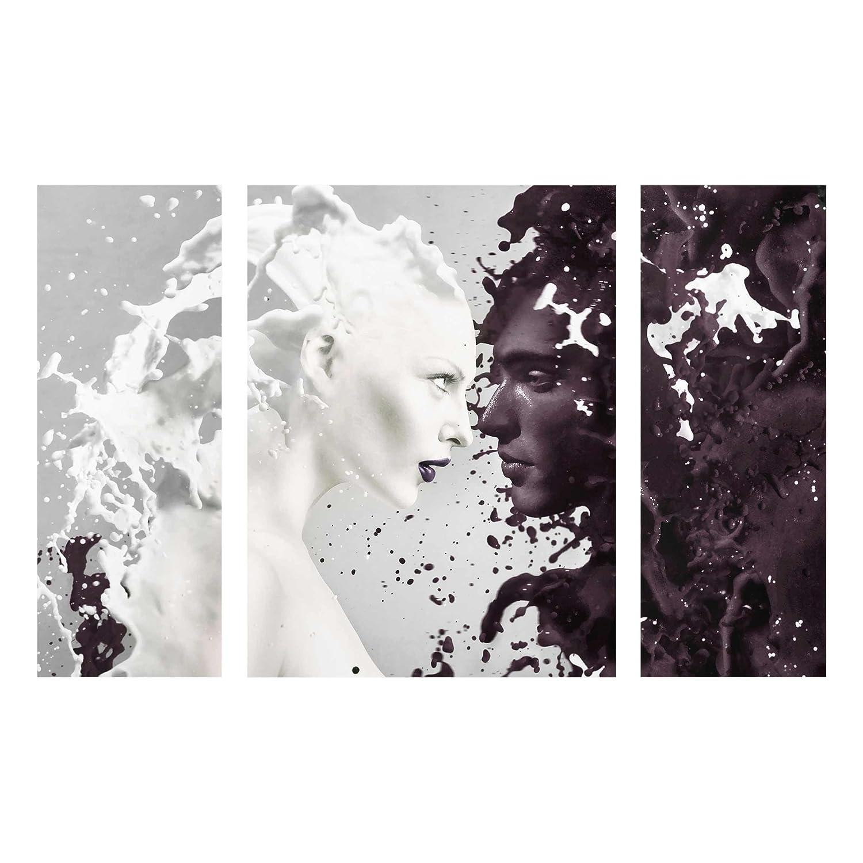 Stampa su vetro Wall Art Multipart–latte e caffè 3pezzi–80x 30cm/80x 60cm/80x 30cm–Stampa in vetro, vetro immagine, murale, viaggi, America, usa, set pez