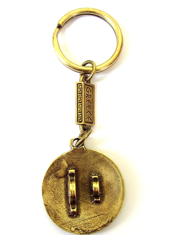 couleur or. O1 Gr/èce antique 300 Leonidas Porte-cl/és en alliage Zamac Bouclier Spartiate