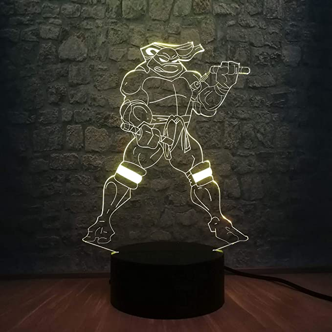 shiyueNB Lámpara 3D Figura de Dibujos Animados Tortugas ...