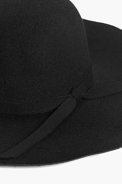 82d2c43e Boohoo Womens Maisy Ribbon Trim Floppy Hat in Black size One Size ...