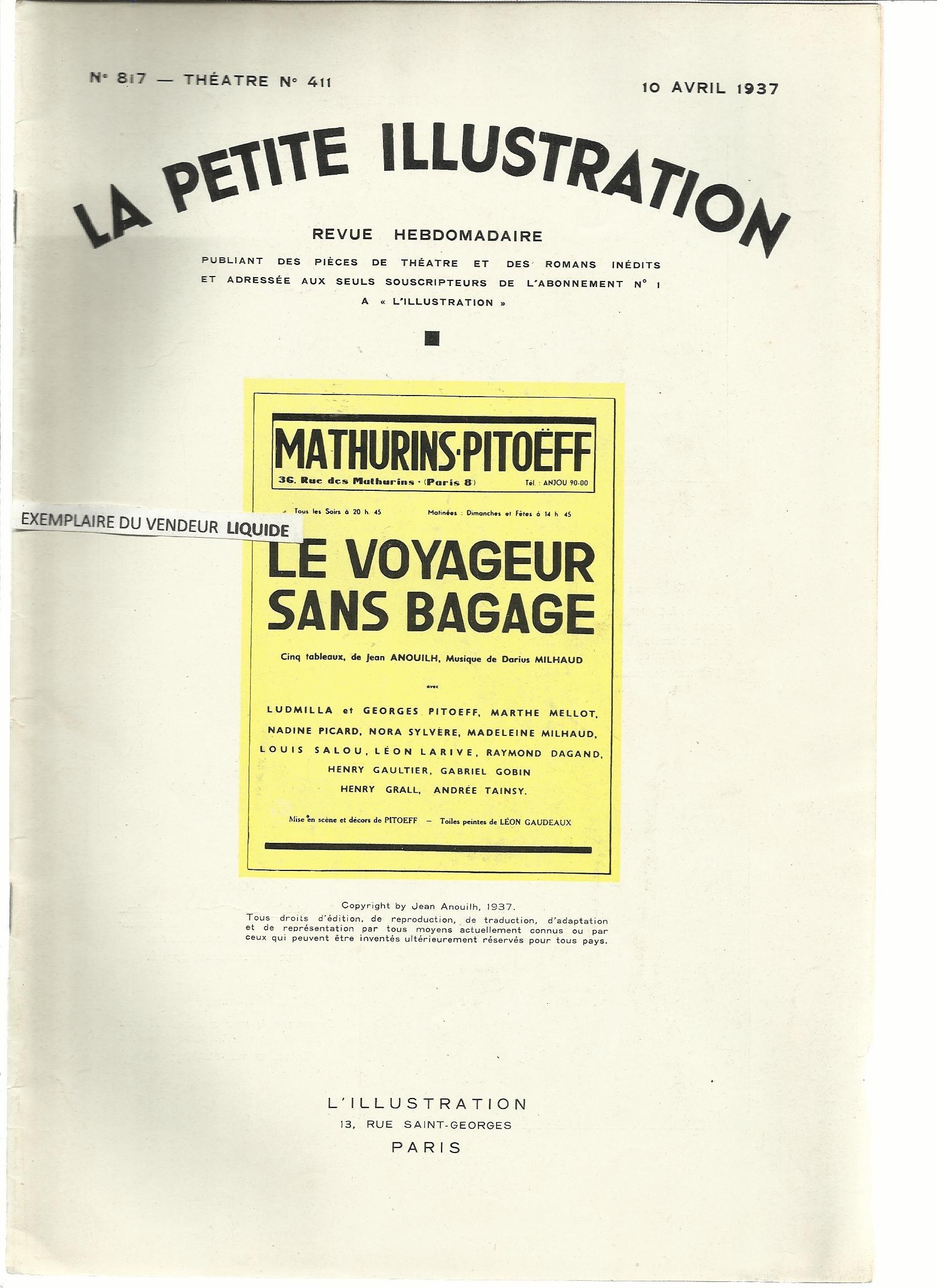 le voyageur sans bagage tableau 2