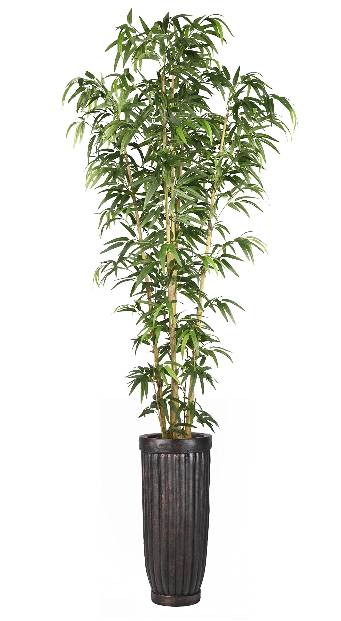 Vintage Home VHX116214 93'' Bamboo Tree in Natural Poles in Planter Tree
