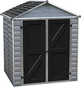 Palram SkyLight Storage Shed | 6' x 5' | Gray