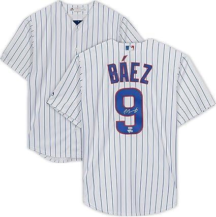 huge discount d1426 1e31d Javier Baez Chicago Cubs Autographed Majestic Replica White ...