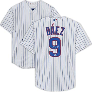 huge discount 7f540 cc1a6 Javier Baez Chicago Cubs Autographed Majestic Replica White ...
