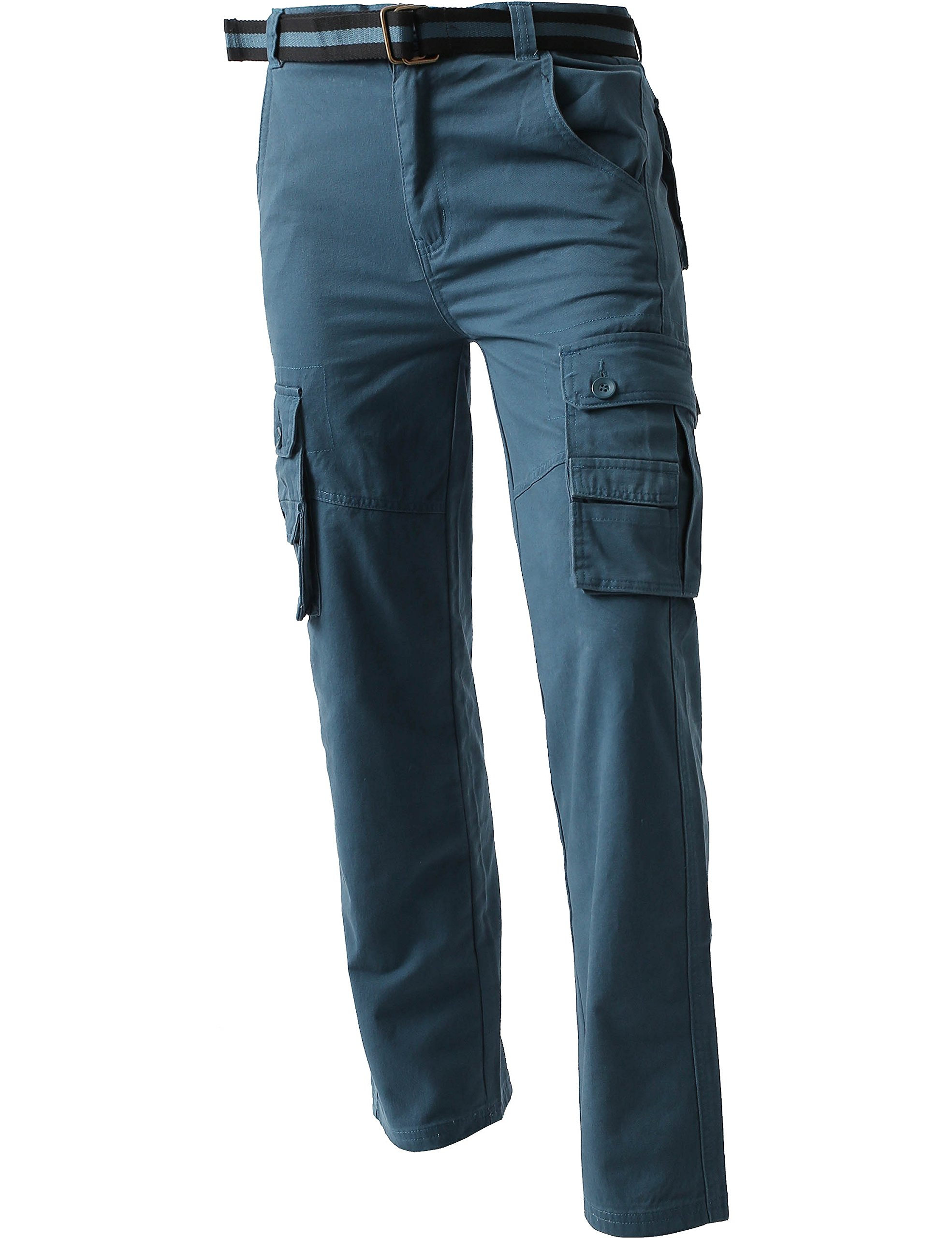 Ma Croix JP Mens Cargo Pants with Utility Belt (40/ pj01_dkblue) by Ma Croix (Image #3)