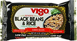 Vigo Black Beans and Rice, 8-Ounce Pouches (Pack of 12)