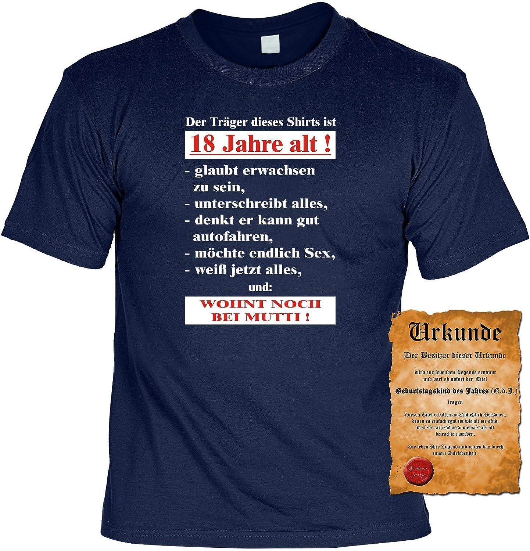Zum 18 Geburtstag lustiges Geburtstags T shirt Der Träger ses