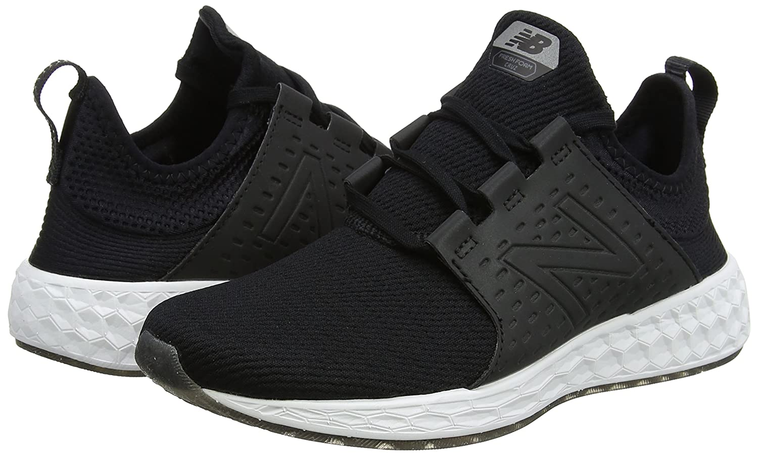 New Balance Women's Fresh Foam Cruz V1 Retro Hoodie Running Shoe B0751DSR33 12 D US|black