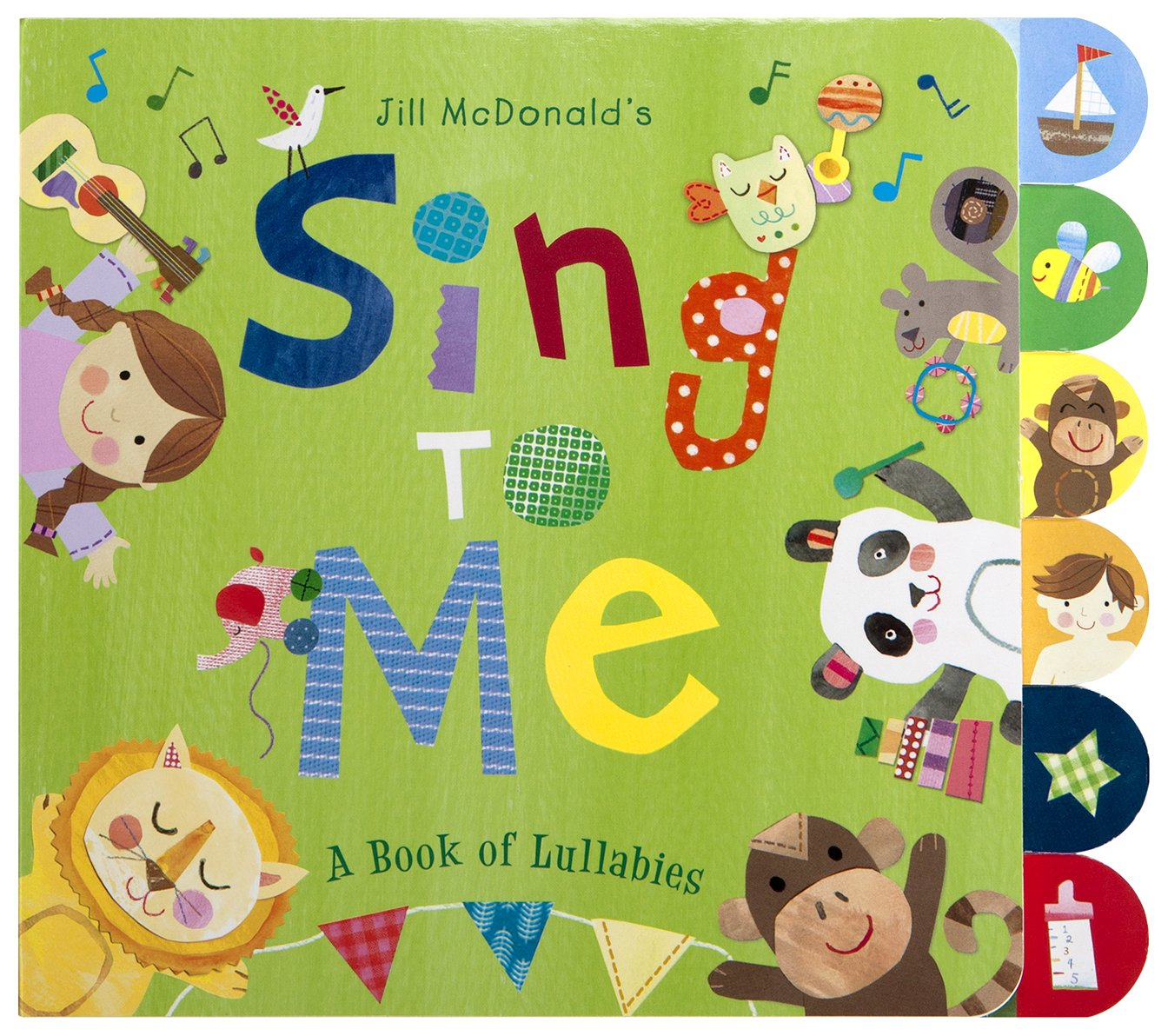 C.R. Gibson 'Sing to Me' Lullaby Book for Babies, 10 x 8.7 x 0.5 inches, 1 piece