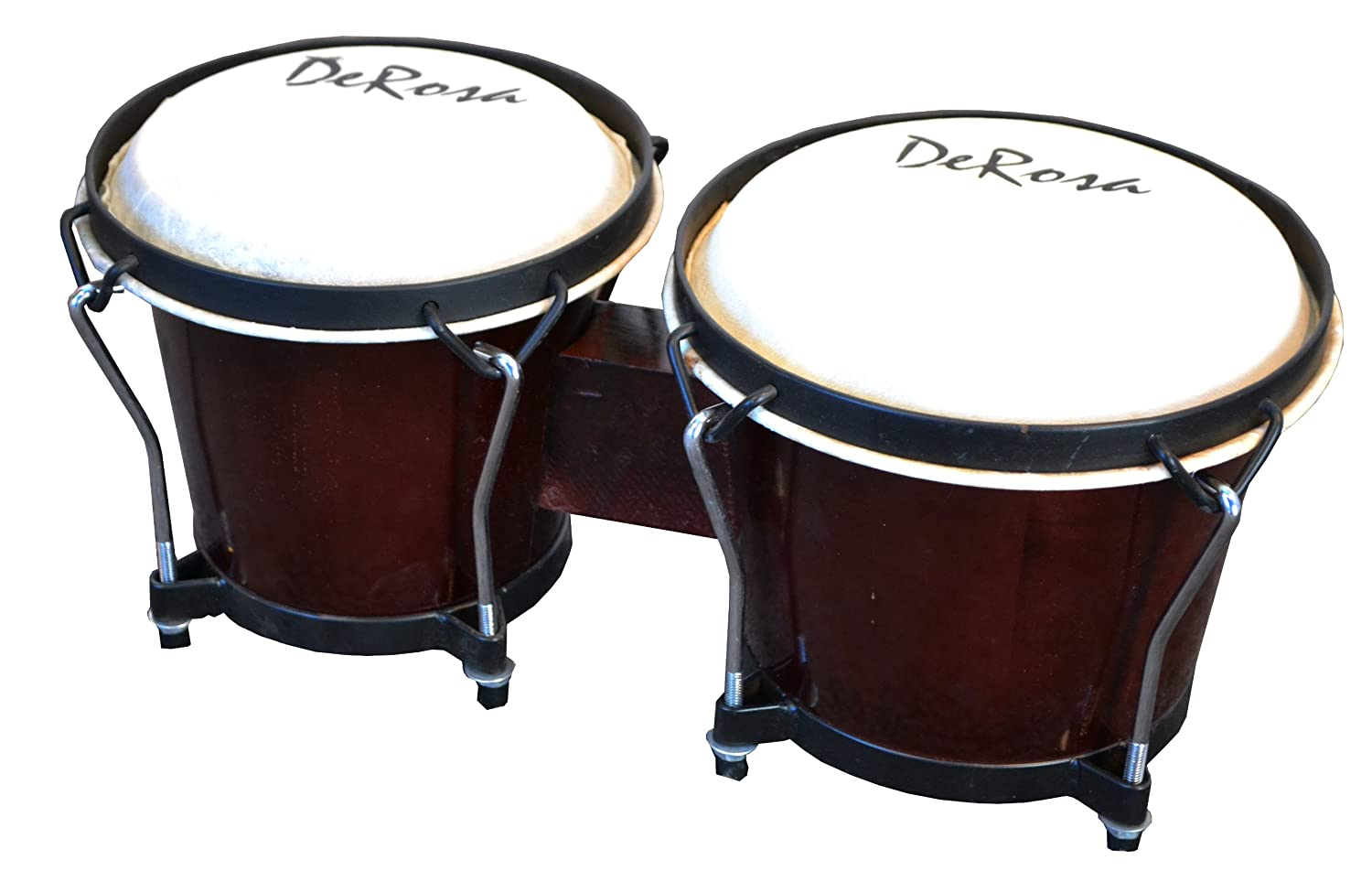 De Rosa Beginner BOG78-DB 7 and 8-Inch Bongo Drum, Dark Brown