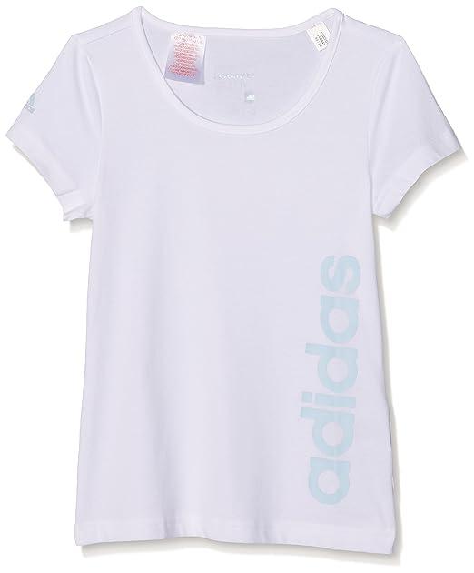 adidas Yg ESS Lin tee Camiseta, Niñas: adidas Performance: Amazon ...