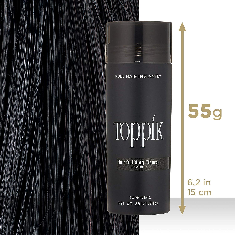 Toppik Fibras Capilares De Queratina Natural (Color Negro) - 55 g ...