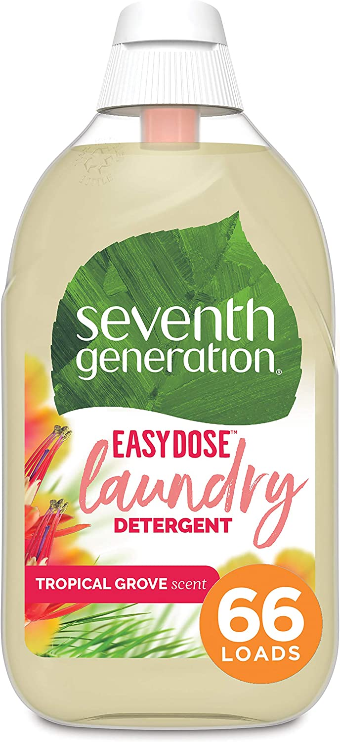 Seventh Generation Laundry Detergent, Ultra Concentrated EasyDose, Tropical Grove, 23 oz, 66 Loads (Packaging May Vary)