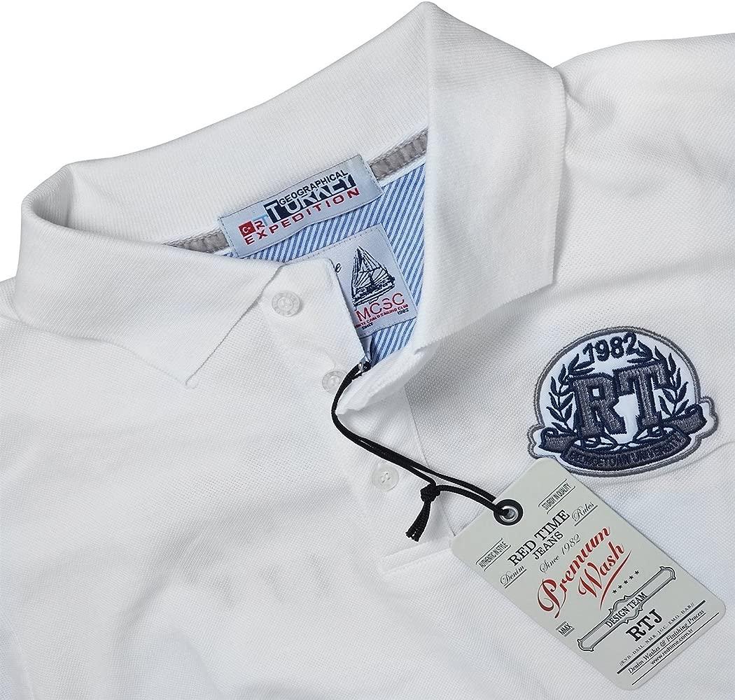 Red Time Jeans - Polo - Básico - para Hombre Blanco Blanco: Amazon ...