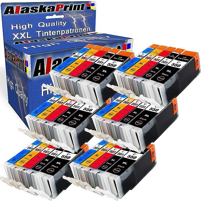 Alaskaprint 30 Cartuchos Multipack Reemplazo para Canon PGI-550XL ...
