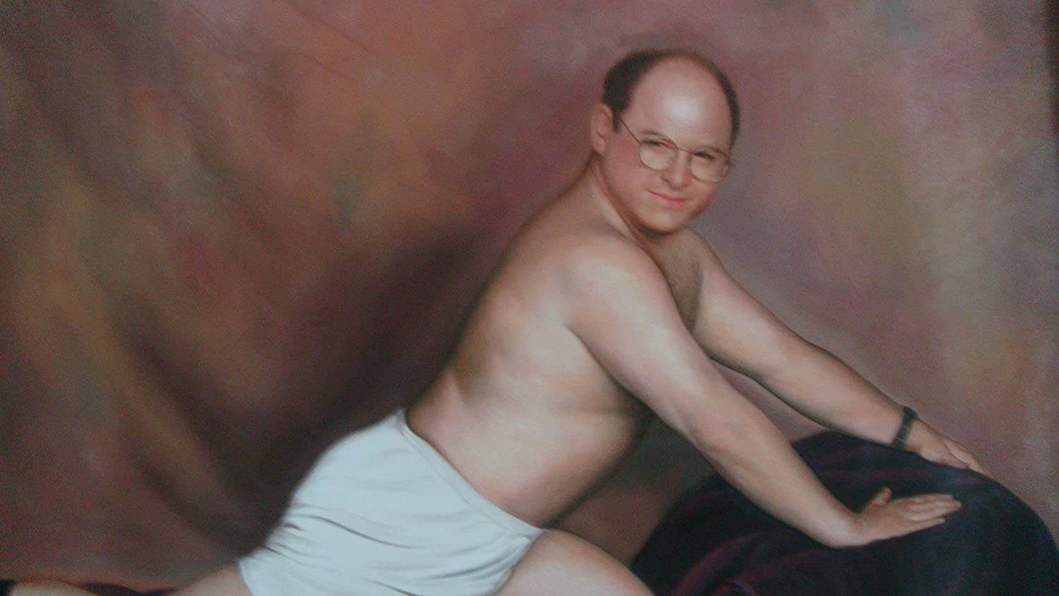 24x36 George Costanza Seinfeld Real Oil Painting On Canvas Handmade Not Printed Amazon Ca Home Kitchen