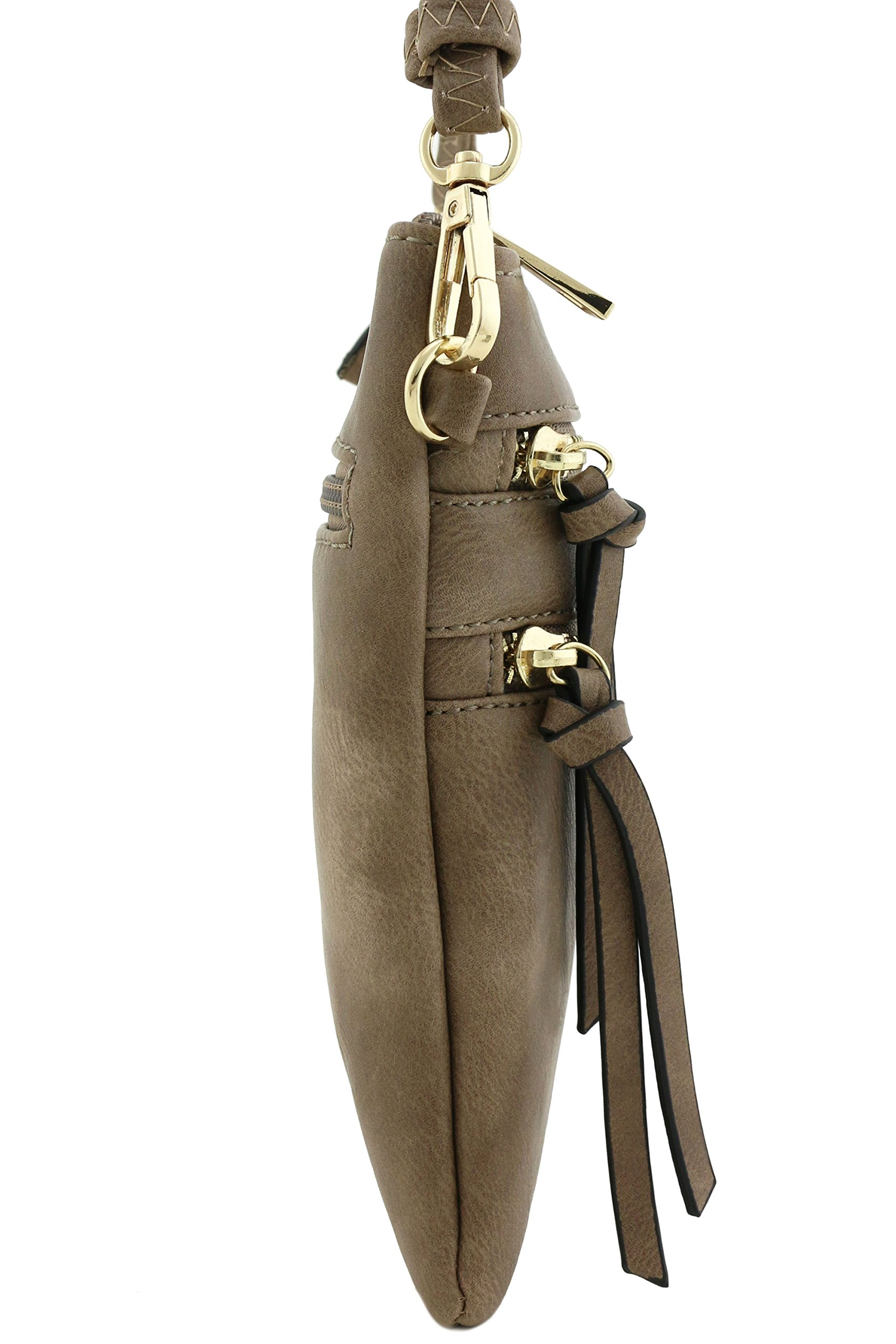 Functional Multi Pocket Crossbody Bag (Taupe) by Isabelle (Image #3)