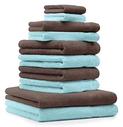 BETZ Juego de 10 Toallas Classic 100% algodón 2 Toallas de baño 4 Toallas 2