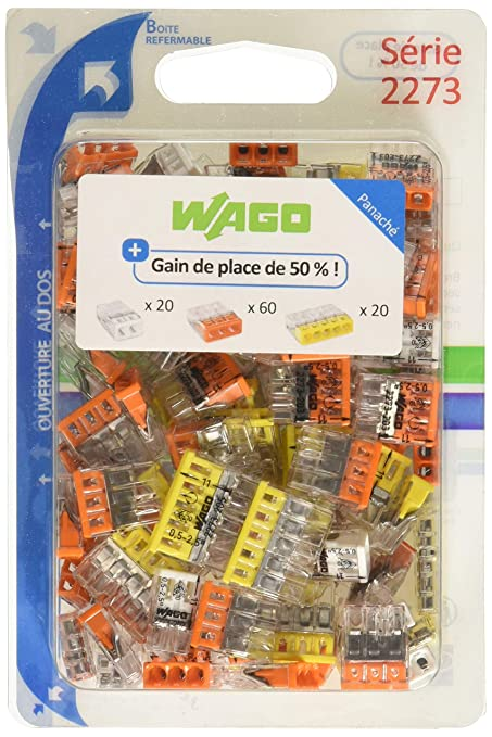 Wago WAG2273//203BL15 Pack de 15 bornes 2273 15 x 3 entrées