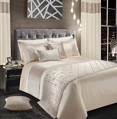 Parure de lit en velours brillant - Avec