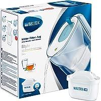 BRITA Style azul - Jarra de Agua Filtrada con 1 cartucho MAXTRA+, Filtro de agua BRITA que reduce la cal y el cloro…