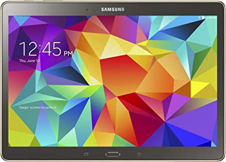 Amazon Com Samsung Galaxy Tab S 10 5 Inch Tablet 16 Gb Titanium Bronze Computers Accessories